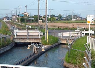 中島分水工の周辺